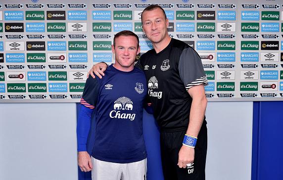 PICTURE: Wayne Rooney wears an Everton shirt