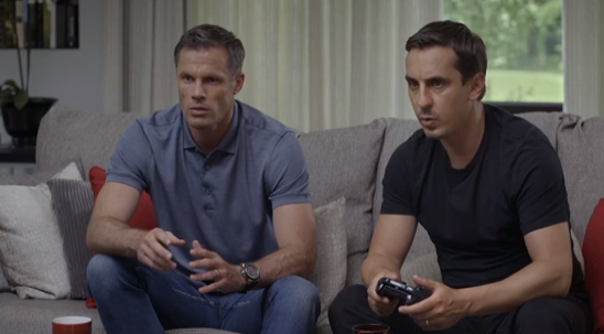 VIDEO: Gary Neville and Carragher play FIFA 16