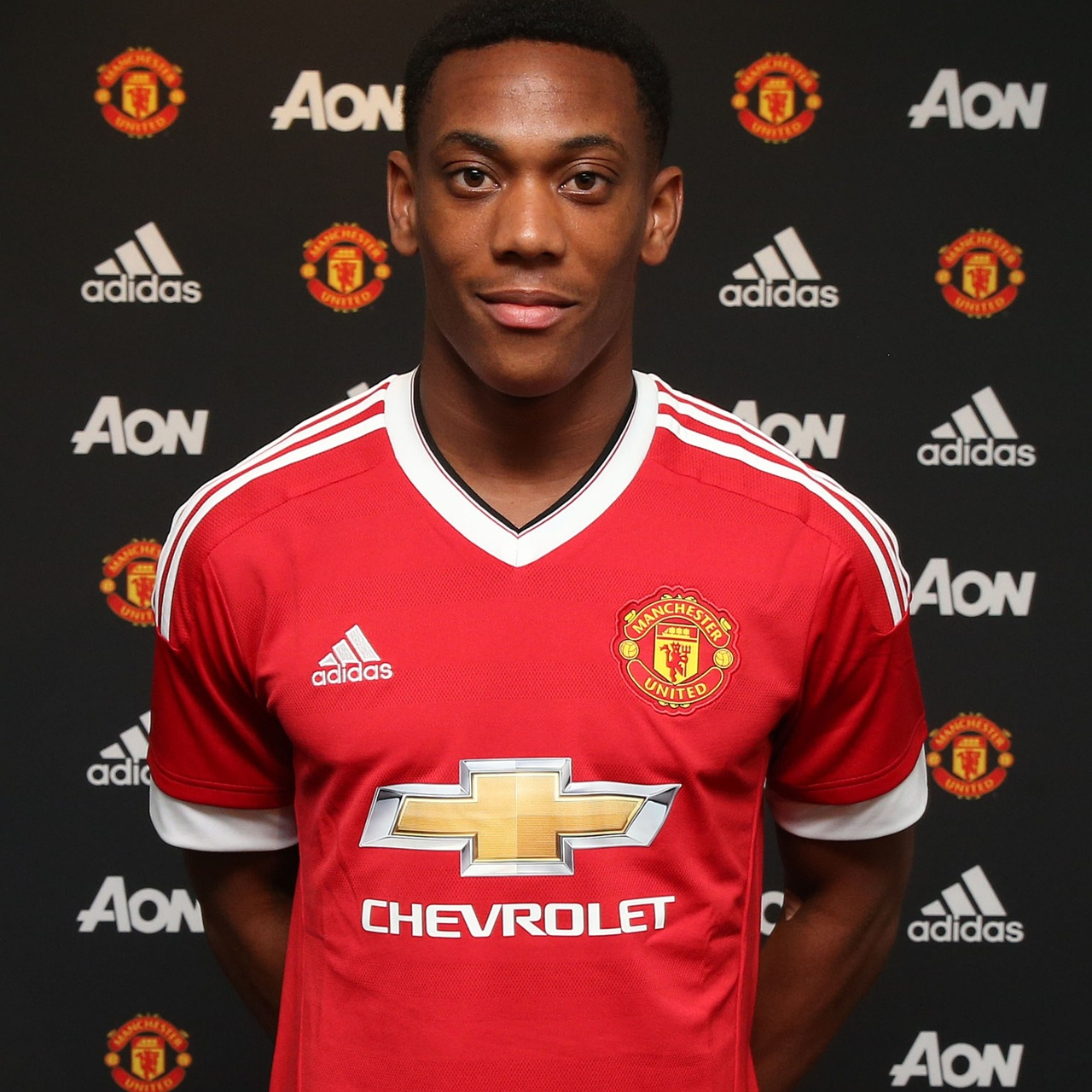 PICTURE: Martial with his new United shirt