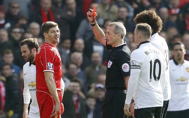 Gerrard: United fans wound me up so much I got sent off