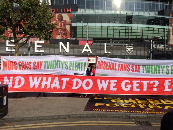 PICTURE: Fans united ahead of Arsenal game