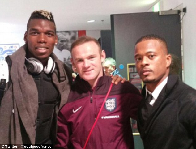 PICTURE: Rooney, Pogba and Evra pose after England win