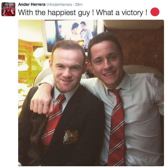 """Players react to United win at Anfield – Herrera with """"happiest guy"""" Rooney"""