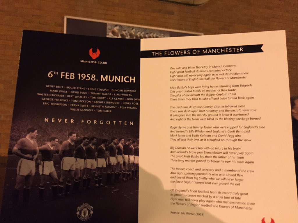 PICTURE: Flowers of Manchester being sung tonight