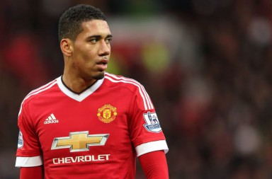 MANCHESTER, ENGLAND - OCTOBER 25:  Chris Smalling of Manchester United during the Barclays Premier League match between Manchester United and Manchester City at Old Trafford on October 25, 2015 in Manchester, England.  (Photo by Matthew Ashton - AMA/Getty Images)