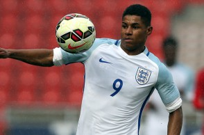 DONCASTER, ENGLAND - MARCH 27:  Marcus Rashford of England during the U20 International Friendly match between England and Canada at the Keepmoat Stadium on March 27, 2016 in Doncaster, England.  (Photo by Nigel Roddis/Getty Images)