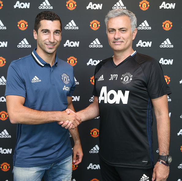 newest ed226 3869e PICTURES: Mkhitaryan with Mourinho, United shirt and new car