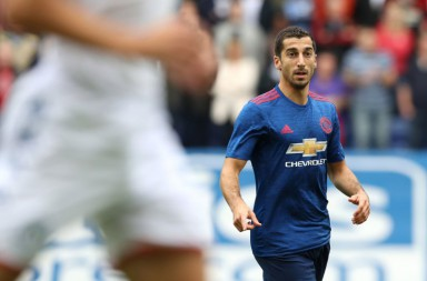 "Manchester United's Henrikh Mkhitaryan during the pre-season friendly match at the DW Stadium, Wigan. PRESS ASSOCIATION Photo. Picture date: Saturday July 16, 2016. See PA story SOCCER Wigan. Photo credit should read: Martin Rickett/PA Wire. RESTRICTIONS: EDITORIAL USE ONLY No use with unauthorised audio, video, data, fixture lists, club/league logos or ""live"" services. Online in-match use limited to 75 images, no video emulation. No use in betting, games or single club/league/player publications."