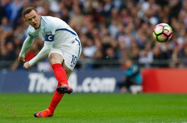 England's captain Wayne Rooney is unsuccessful with this freekick during the World Cup 2018 football qualification match between England and Malta at Wembley Stadium in London on October 8, 2016. / AFP PHOTO / Ian KINGTON / NOT FOR MARKETING OR ADVERTISING USE / RESTRICTED TO EDITORIAL USEIAN KINGTON/AFP/Getty Images