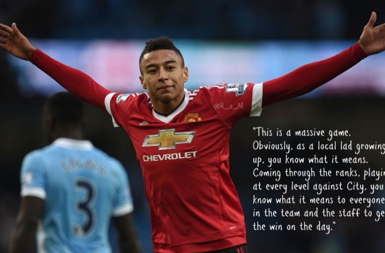 Lingard: Local lads like me know what the derby means