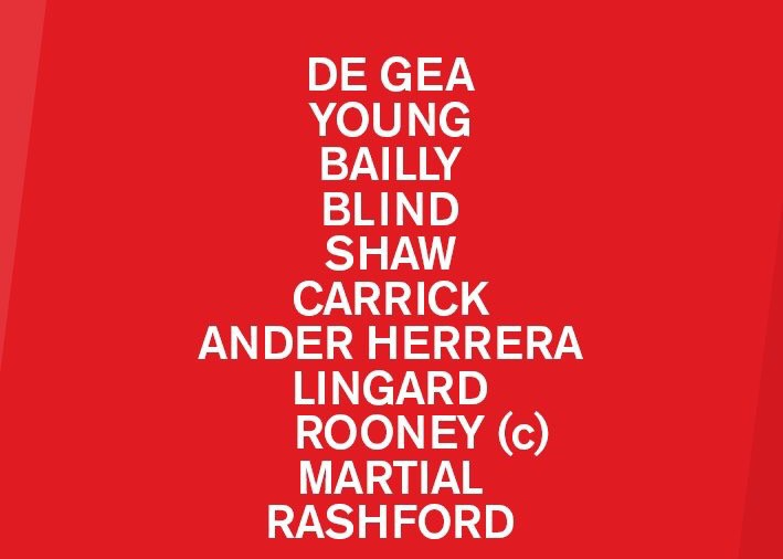 CONFIRMED LINE-UP: United vs Swansea – Mata on the bench