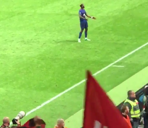 VIDEO: Pogba dances for the fans after winning Europa League