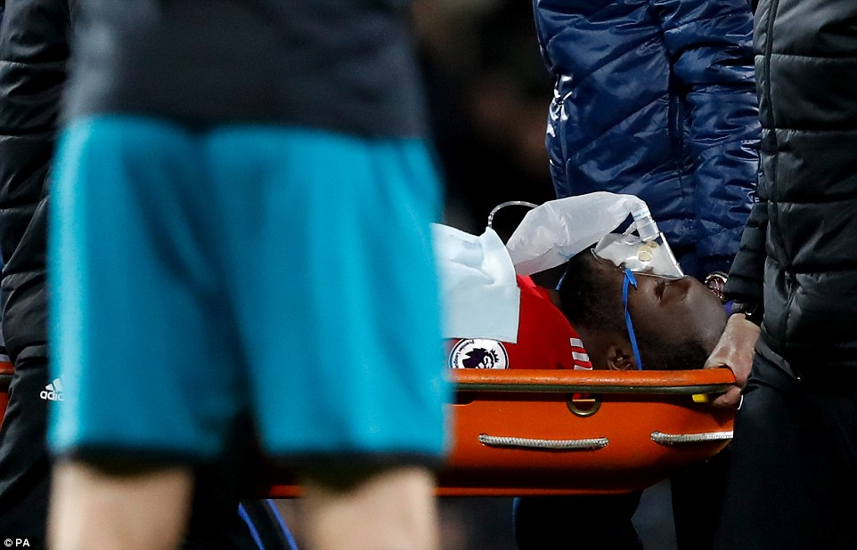 Lukaku was given an oxygen mask as he was taken off on a stretcher after just 14 minutes on Saturday evening [DailyMail]