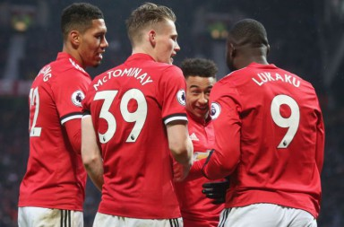 during the Premier League match between Manchester United and Huddersfield Town at Old Trafford on February 3, 2018 in Manchester, England.