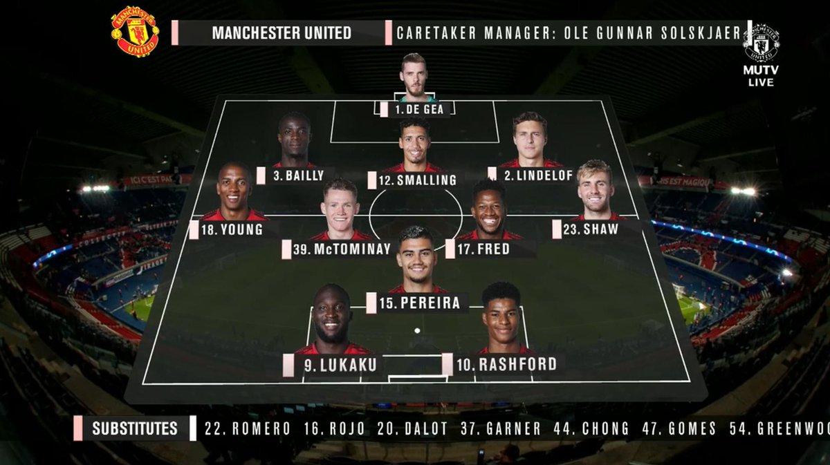 Confirmed Line Up Psg Vs United
